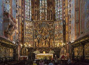 Kraków - ołtarz Zaśnięcia NMP w kościele Mariackim