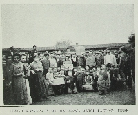 Image from object titled Jewish workers in Mr. Halpern's match factory