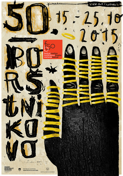 Plakat. 50. Festival Borštnikovo srečanje. 1. Plakat