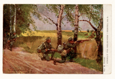 Strzelcy pod Miechowem 7 sierpnia 1914 r.