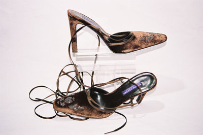 Ladies wrap around shoes - designer Ralph Lauren.