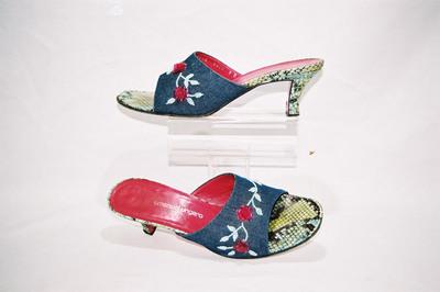 Ladies mules by designer Emanuel Ungaro.