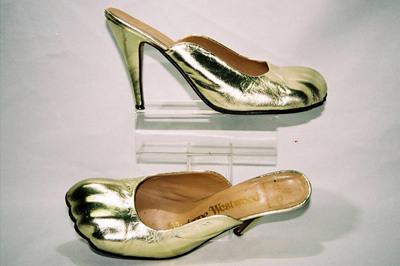 Ladies mules by designer Vivienne Westwood.