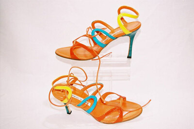 Ladies sandals by designer Manolo Blahnik.