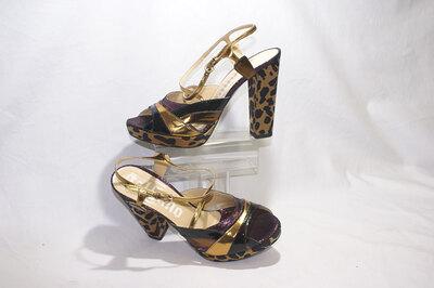 Ladies platform sandals by designer John Galliano.
