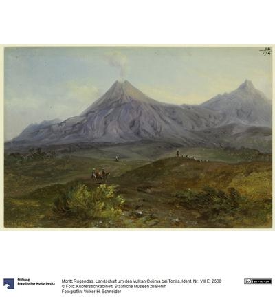 Landschaft um den Vulkan Colima bei Tonila
