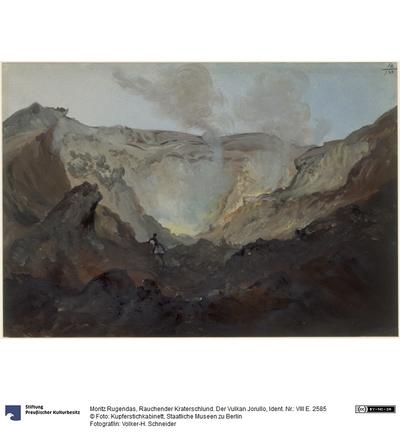 Rauchender Kraterschlund. Der Vulkan Jorullo