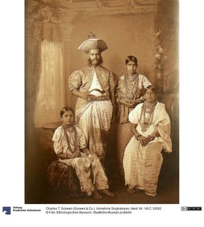 Vornehme Singhalesen