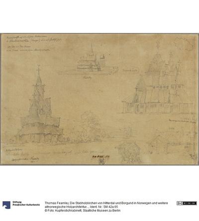 Die Stabholzkirchen von Hitterdal und Borgund in Norwegen und weitere altnorwegische Holzarchitekturen (das Stubenhaus und der Speicher von Ober-Telemark?)