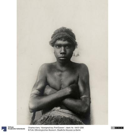 Aboriginal boy. Port Darwin.