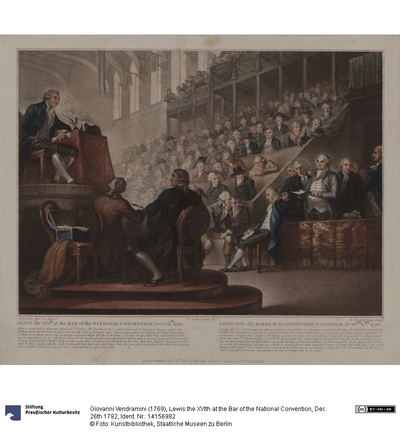 Lewis the XVIth at the Bar of the National Convention, Dec. 26th 1792