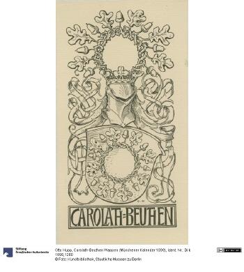 Carolath-Beuthen Wappen (Münchener Kalender 1899)