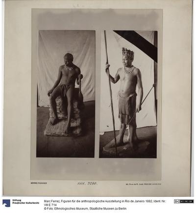 Figuren für die anthropologische Ausstellung in Rio de Janeiro 1882