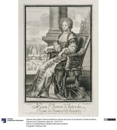 Marie Therese d'Autriche. Reine de France & de Navarre: Porträt der Maria Theresia von Österreich