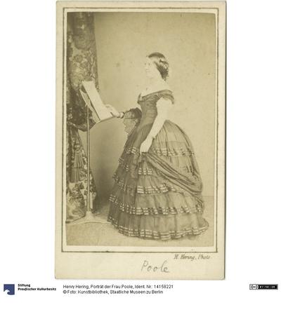 Porträt der Frau Poole