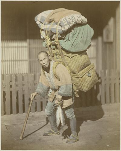 Japan, Straßenhändler, Lastenträger