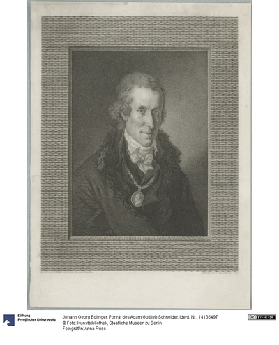 Porträt des Adam Gottlieb Schneider