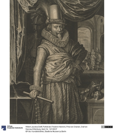 Porträt des Friedrich Heinrich, Prinz von Oranien, Graf von Nassau-Dillenburg