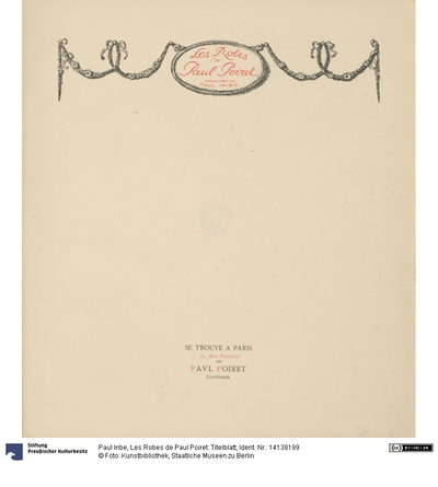 Les Robes de Paul Poiret: Titelblatt