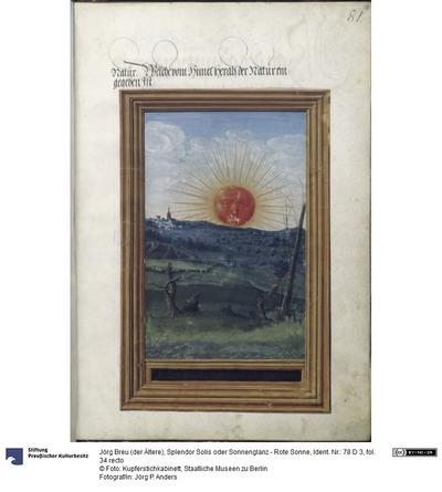 Splendor Solis oder Sonnenglanz - Rote Sonne