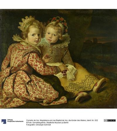 Magdalena (geb. 1618) und Jan-Baptiste de Vos (geb. 1619), die Kinder des Malers