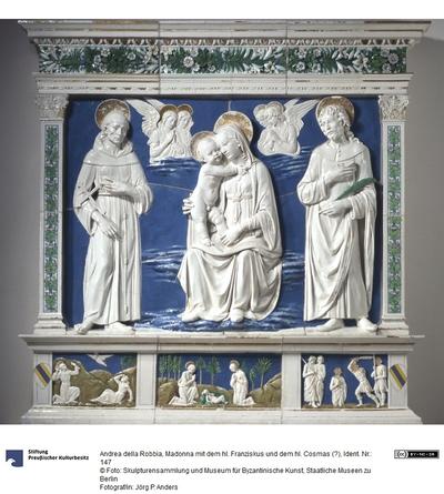 Madonna mit dem hl. Franziskus und dem hl. Cosmas (?)