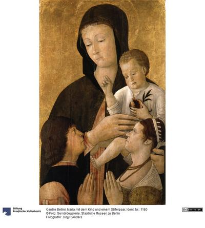 Maria mit dem Kind und einem Stifterpaar