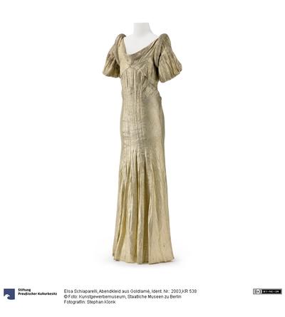 Abendkleid aus Goldlamé