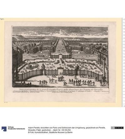 Ansichten von Paris und Schlössern der Umgebung, gezeichnet von Perelle, Silvestre, Patel, gestochen von Perelle, verlegt von N. Langlois, Paris.