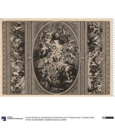 Deckenbild aus White-Hall, bez: P. P. Rubens Pinx. S. Gribelin Sculp.