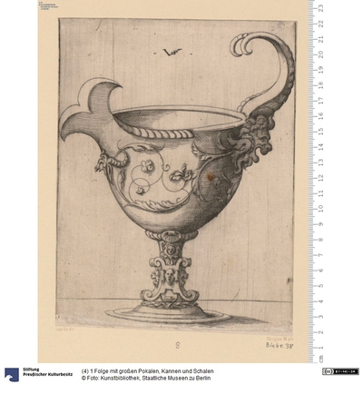 (4) 1 Folge mit großen Pokalen, Kannen und Schalen