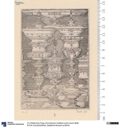 (7) 2 Blatt einer Folge mit mehreren Gefäßen auf je einem Blatt