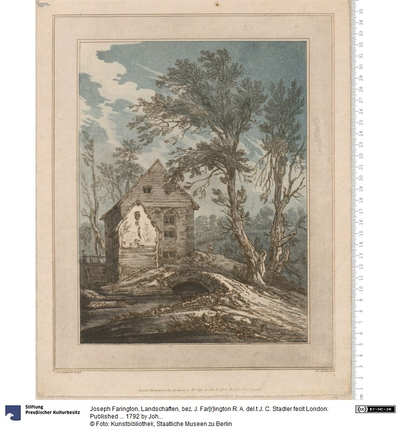 Landschaften, bez. J. Far[r]ington R. A. del.t J. C. Stadler fecit London: Published ... 1792 by John & Josiah Boydell ...
