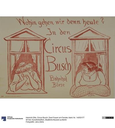 Circus Busch. Zwei Frauen am Fenster