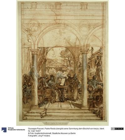 Padre Resta übergibt seine Sammlung dem Bischof von Arezzo