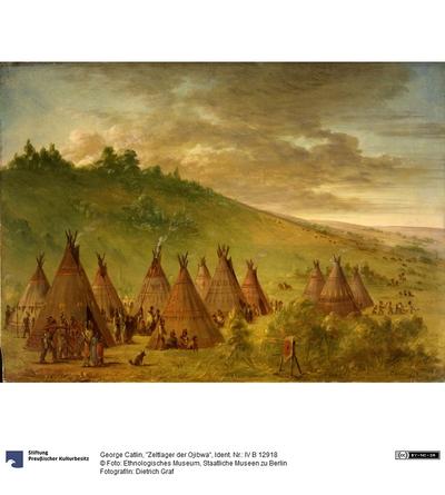 """""""Zeltlager der Ojibwa"""""""