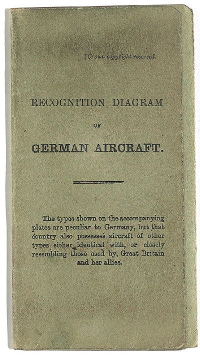 Image from object titled Garvin Papers. Recognition diagram of German aircraft