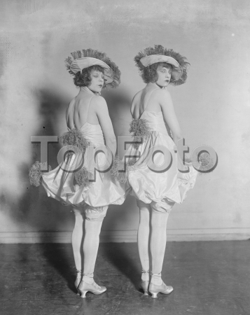 The Victory Ball at the Albert Hall The Eclair twins  12 November 1919