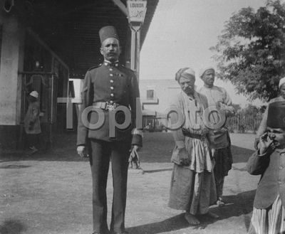 Robert of Luxor , Type of Egyptian Policeman 1919 *** Local Caption *** .