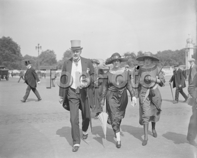 The Kings Garden Party Buckingham Palace  Sir W and Lady Davidson and their daughter  21 July 1922