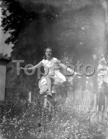 Girl jumping.  1933