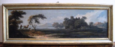 Paesaggio lacustre con castello