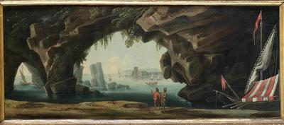 Veduta di mare con grotte