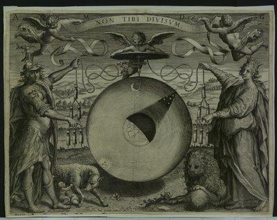 Simboli dell'Universo e cappello cardinalizio