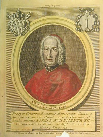 Card. Prospero Colonna 1739