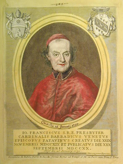 Card. Giovan Francesco Barbadico 1720
