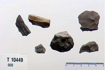 Image from object titled flekker/flekkeblok/brudstkr./kjerne/blok eller knude/flint