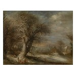 Snow Landscape with Gypsies