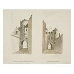 Two Townscapes of Ghent, in: Album contenant des souvenirs offert par l'Amitié à P.J. Goetghebuer, architecte, professeur de l'Académie de Peinture, Sculpture & Architecture de la Ville de Gand