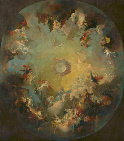 The Assumption of the Virgin Mary. Sketch for the Dome Fresco in the Cathedral in Vác